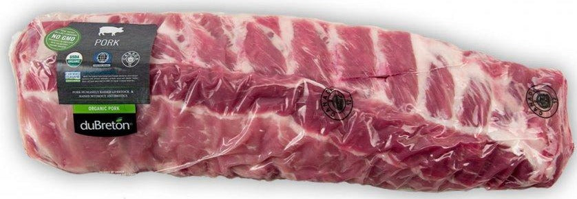 Organic Pork Back Ribs by duBreton, 750g