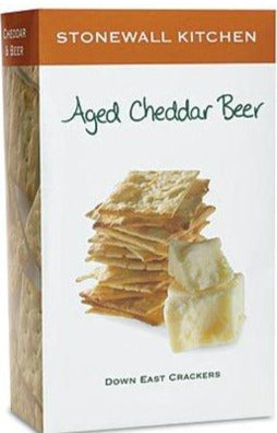 Aged Cheddar Beer Down East Crackers by Stonewall Kitchen 142g