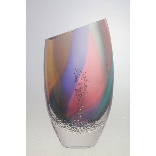 Sea Foam Flattened Open Mouth Vase SFV28(Large), SFV27 (Small)
