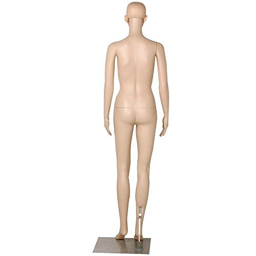 "go2buy Female Dress Form Plastic Mannequin Full Body with Metal Base, Great for Displaying, 68.9"" - FitsByDesign"