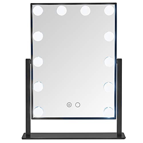 Beautify Lighted Vanity Mirror 12x Dimmable White LED Bulbs w/Touch Screen - FitsByDesign