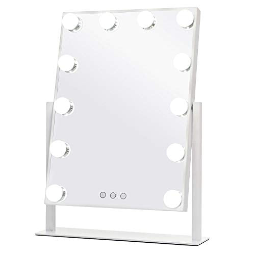 WAYKING Makeup Mirror with Lights, Lighted Vanity Mirror with 12 LED Bulbs - FitsByDesign