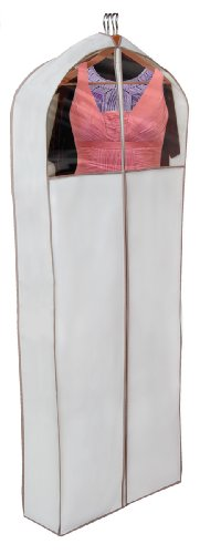 PRO-MART DAZZ Gusseted Gown Garment Bag, Beige - FitsByDesign