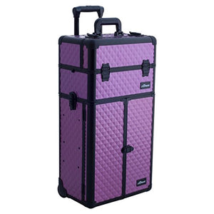Makeup Case on Wheels 2 in 1 Professional Trolley - FitsByDesign