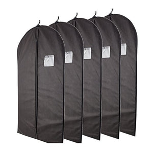 "Plixio Breathable 40"" Black Garment Bags for Storage - FitsByDesign"