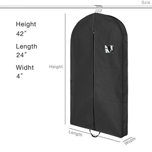 Titan Mall 42-Inch Garment Bag Foldover Breathable Suit Cover - FitsByDesign