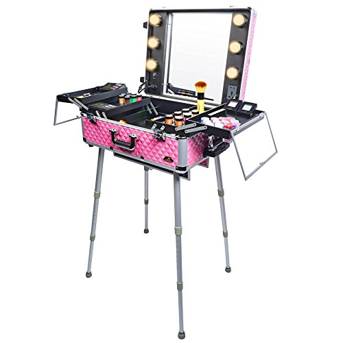 SHANY Cosmetics Studio Togo Makeup Case with Light, Pink - FitsByDesign