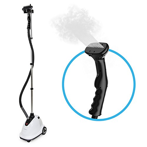 PureSteam XL - High-Powered Standing Fabric Steamer with Garment Hanger and Fabric Brush - FitsByDesign