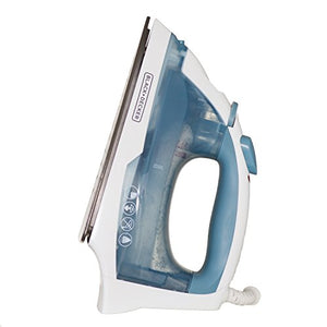 BLACK+DECKER IR40V Easy Steam Nonstick Compact Iron with Automatic Shut Off & Anti Drip - FitsByDesign