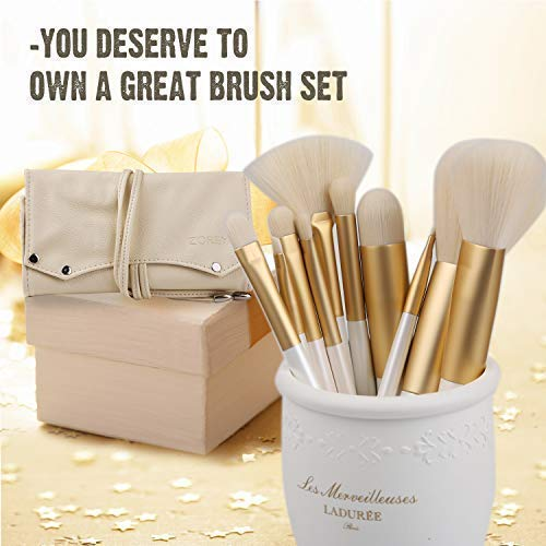 Makeup Brushes 10pc Gold Color - FitsByDesign