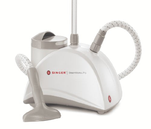 SINGER SteamWorks Pro 1500 Watt Garment & Fabric Steamer with 90 Minutes of Continuous Steam - FitsByDesign