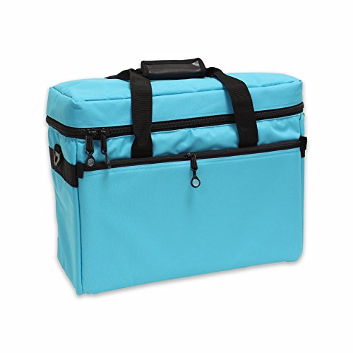 BlueFig TB19 Sewing Machine Carrier/Project Bag/Notion Bag (Aqua) - FitsByDesign