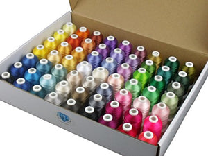 Simthread 63 Brother Colors Polyester 120d/2 40 Weight Embroidery Machine Thread for Brother Machine - FitsByDesign