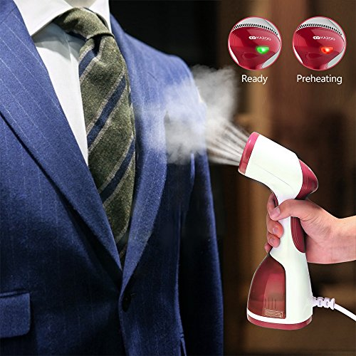 KAZOO Handheld Portable Clothes Steamer with Large 260ml Water Tank - FitsByDesign