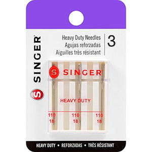 Singer Heavy Duty Machine Needles, Size 110/18, 3-Pack - FitsByDesign