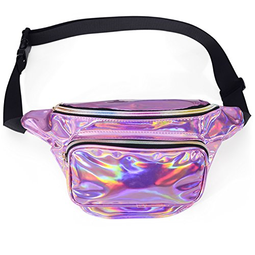 Holographic Neon Water Resistant Fanny Pack - FitsByDesign