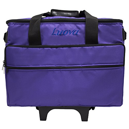 "Luova 19"" Rolling Sewing Machine Trolley in Purple - FitsByDesign"