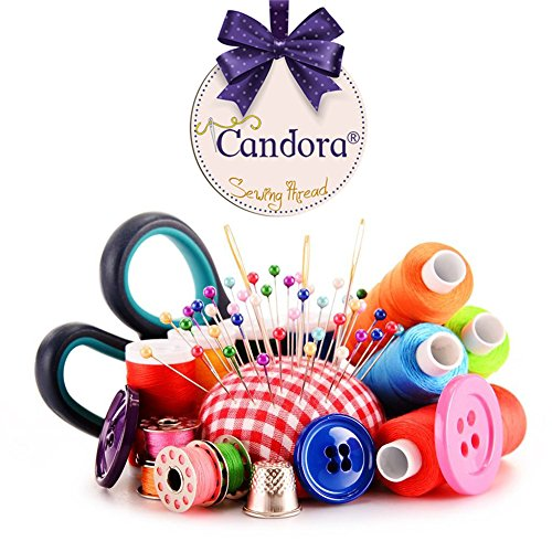 Candora Sewing Thread Assortment Coil 30 Color 250 Yards Each - FitsByDesign