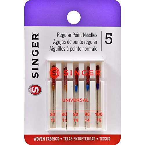 Singer Universal Regular Point Machine Needles 5-Count - FitsByDesign