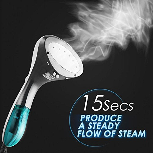 1500W Powerful Garment Steamer 15-sec Ultrafast Heat-up Fabric Steamer - FitsByDesign