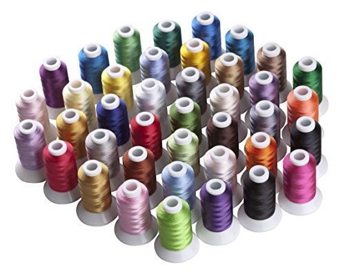 Simthread 40 Brother Vibrant Colors Spools Poly Embroidery Thread - FitsByDesign