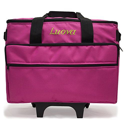 "Luova 19"" Rolling Sewing Machine Trolley in Pink - FitsByDesign"