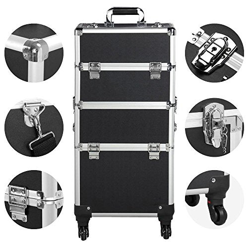 360-degree Wheels 3-in-1 Professional Aluminum Artist Rolling Trolley - FitsByDesign