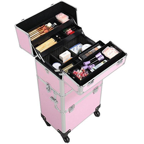 Rolling Wheels Makeup Case Salon Cosmetic Organizer - FitsByDesign