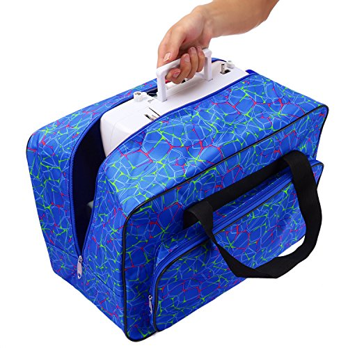 Homdox Sewing Machine Carrying Case Tote Bag - Universal Waterproof Blue - FitsByDesign