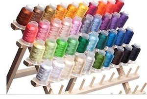 40 Spools Polyester Embroidery Machine Thread - FitsByDesign