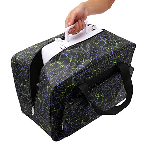Homdox Sewing Machine Carrying Case Tote Bag - Universal Waterproof Black - FitsByDesign
