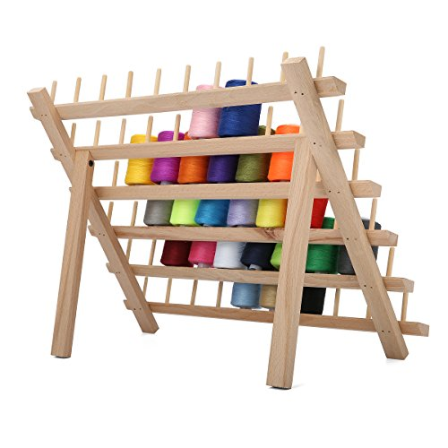KINGSO 60 Spool Wooden Thread Rack and Organizer for Sewing Quilting Embroidery - FitsByDesign