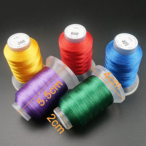 New Brothread 63 Brother Colors Polyester Embroidery Machine Thread Kit - FitsByDesign