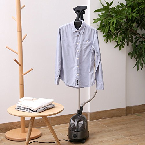 Aicok Clothes 1500W Powerful Fast Heat Garment Steamer w/Garment Hanger & Retractable Pole - FitsByDesign