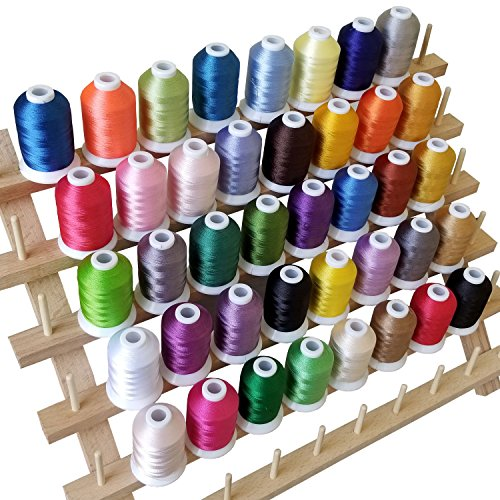 FLASH SALE I Embroidery Thread - 40 Variety Polyester Spools 550 Yard/ Spool - FitsByDesign