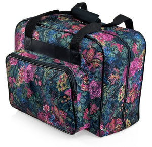 Distinctive Large Floral Pattern Premium Sewing Machine Universal Tote Bag - FitsByDesign