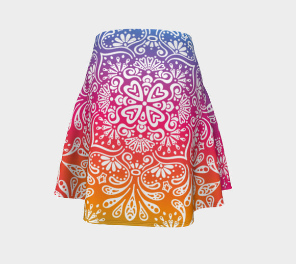 Be the Rainbow! Flare Skirt