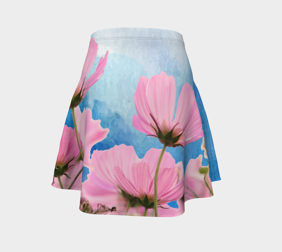 Flowers in the Wind Flare Skirt