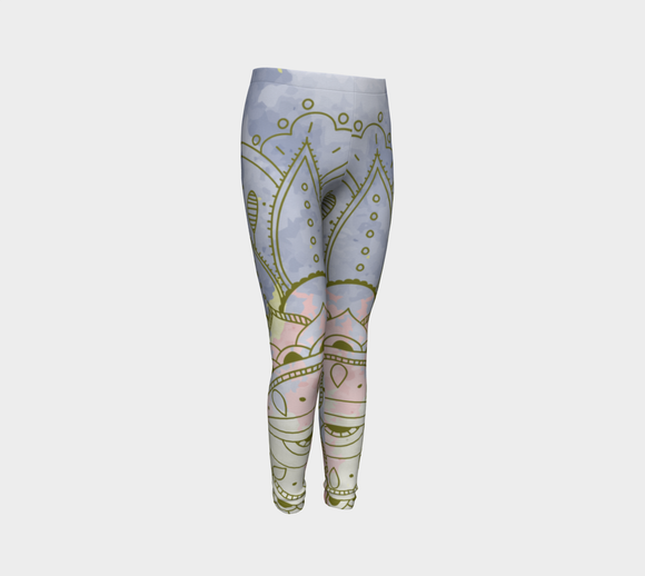 Peaceful Purple Youth Leggings