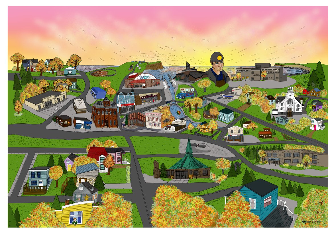 Glace Bay Illustrated Map