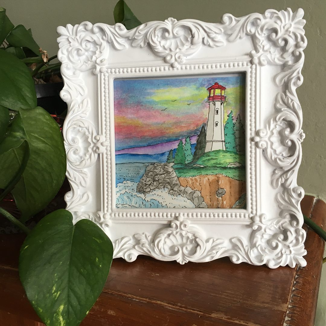 Louisbourg Lighthouse - Framed