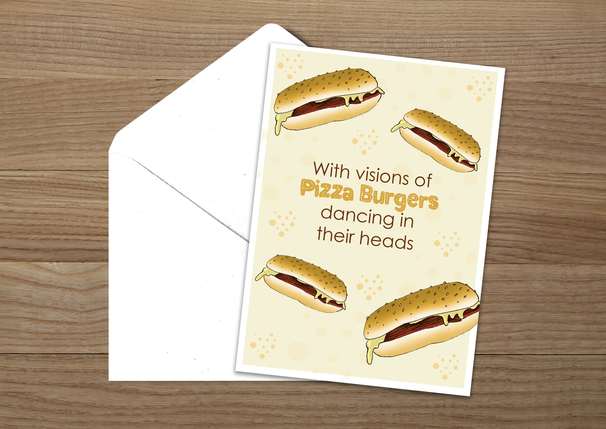 Pizza Burger Christmas Card