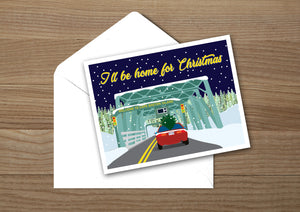 Canso Causeway Night Greeting Card