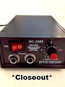 3~15VDC @ 2A DC Regulated Switching Tattoo Power Supply; Part # 5486