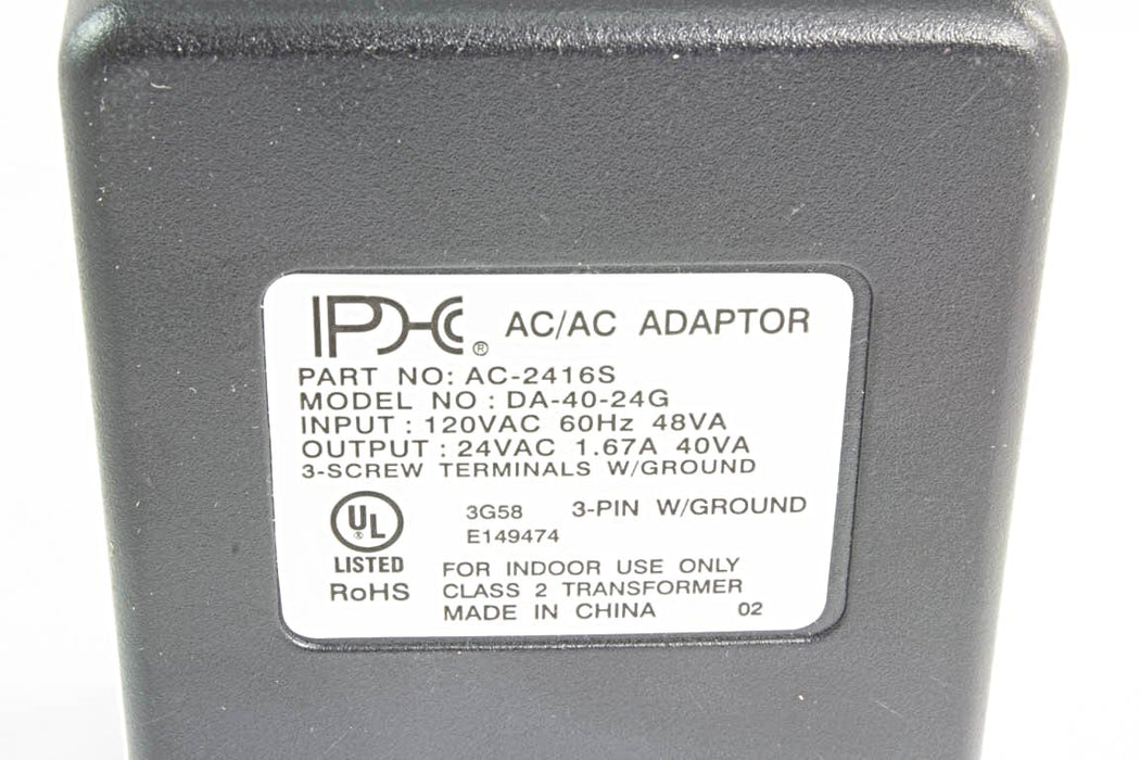 AC-AC Power Supply 24VAC @ 1670mA; 3 x Screw Terminals; Part # AC-2416S