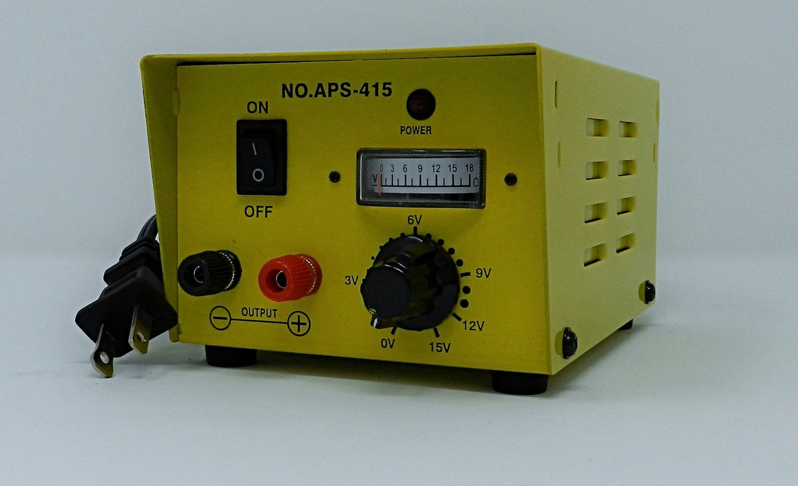 3~15VDC @ 4A DC Regulated Switching Power Supply (YELLOW); Part # APS-415Y