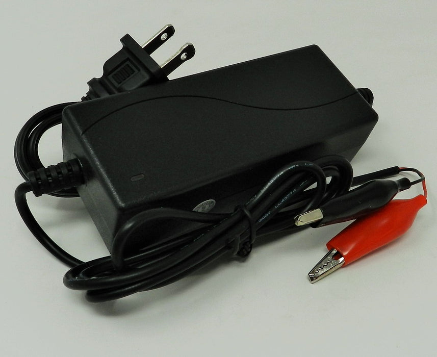 Floating-Smart Charger 24VDC @ 1200mA; Alligator Clips; Part # FC-2412GT