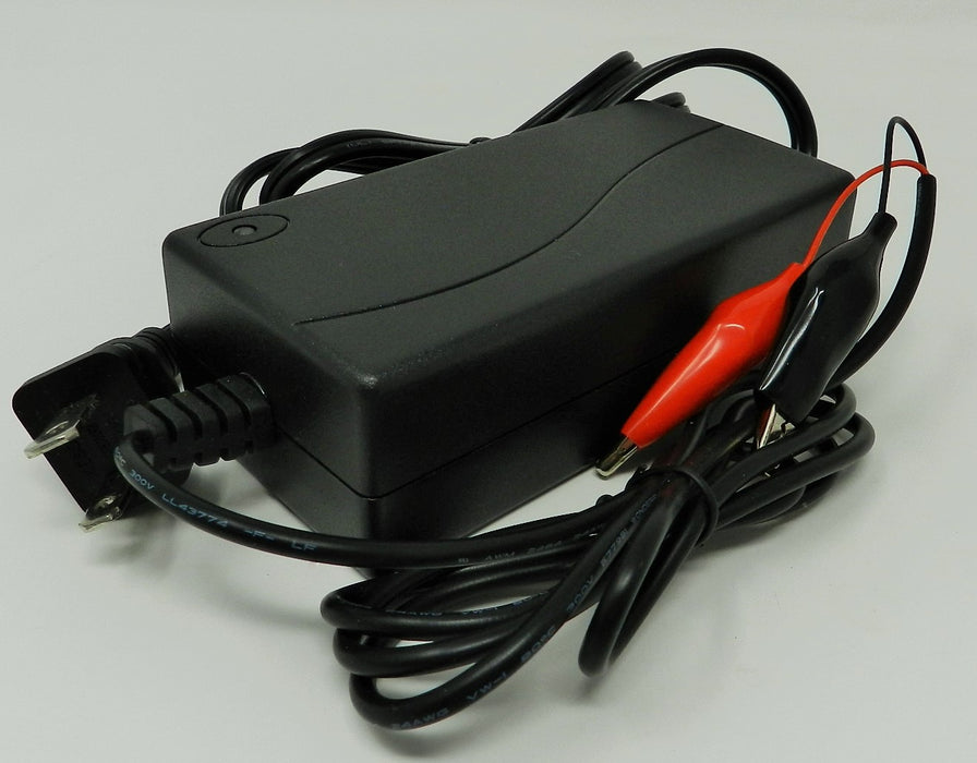 Floating-Smart Charger 36VDC @ 1000mA; Alligator Clips; Part # FC-361C