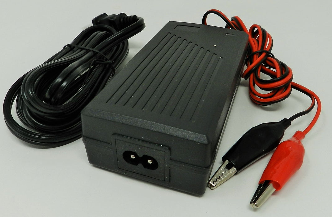 Floating-Smart Charger 48VDC @500mA; Alligator Clips; Part # FC-4805