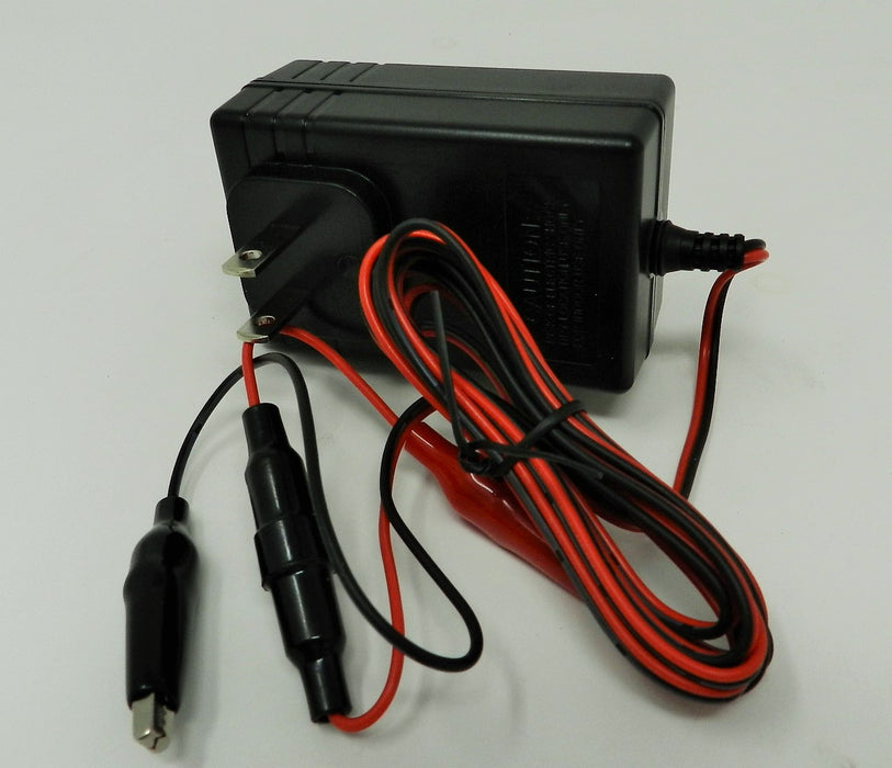 Floating-Smart Charger 6VDC or 12VDC @200/400/800mA; Alligator Clips; Part # FC-612C